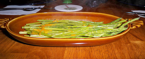 Fresh Asparagus with Orange Sauce